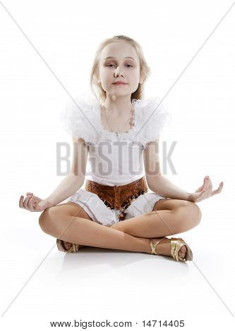 Girl Relaxing Meditating