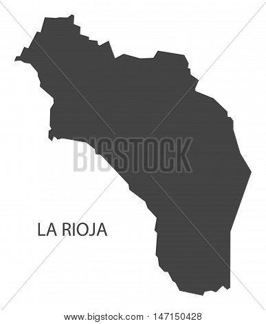 La Rioja Argentina Map grey vector high res