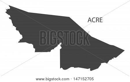 Acre map grey brazil vector high res