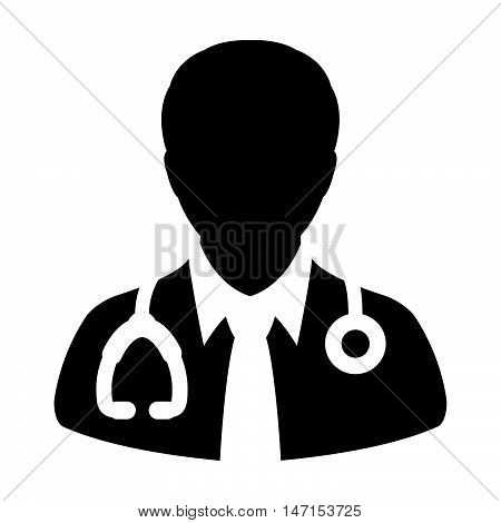 Doctor Icon - Physician, Medical, Health Care, MD, Human Glyph Vector illustration