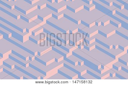 Fashion trend colors of 2016 Pantone 13-1520 Rose Quartz and 13-3919 Serenity computer generated 3D abstract background
