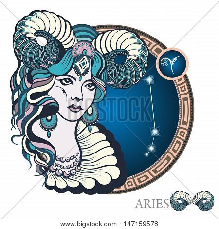 Aries . Zodiac sign for your design