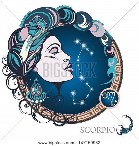 Scorpio . Zodiac sign for your design