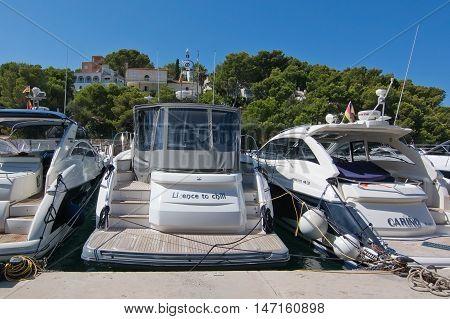 Boats In The Marina In Santa Ponsa Nautic Club