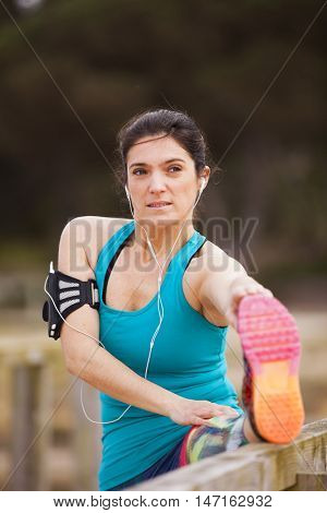 Mature woman exercising outdoor