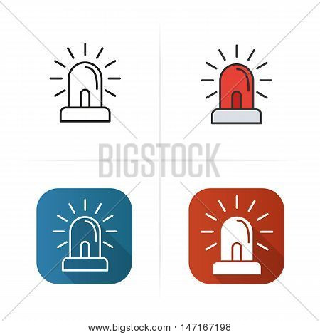 Flasher icon. Flat design, linear and color styles. Isolated vector illustrations