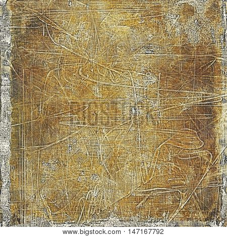 Decorated texture, antique vintage background with different color patterns: yellow (beige); brown; gray