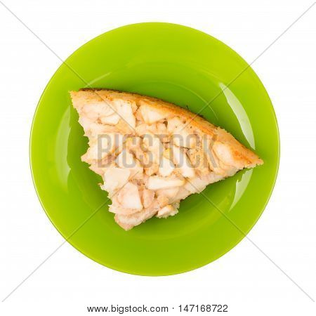 Charlotte in a plate isolated d d
