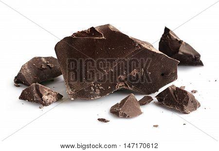 Chocolate Pieces Close-up