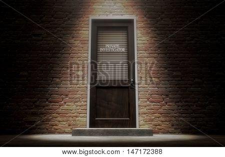 Private Eye Door Outside