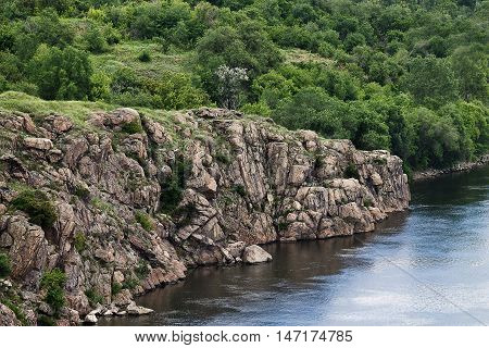 bank of the Dnieper River steep rocky