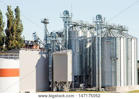 Agricultural Silos - Building Exterior Storage and drying of grains wheat corn soy sunflower