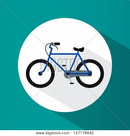 Icon. A Bike. Sport. Healthy Lifestyle. Round. Bright. Flat Design. For Your Use