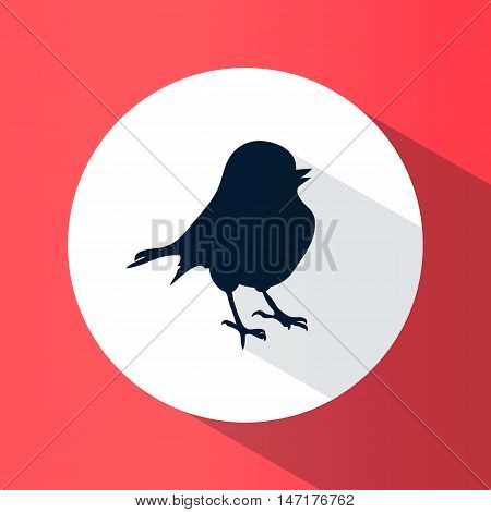 Icon. Bird. Silhouette. Logo. Round. Bright. Flat Design. For Your Use