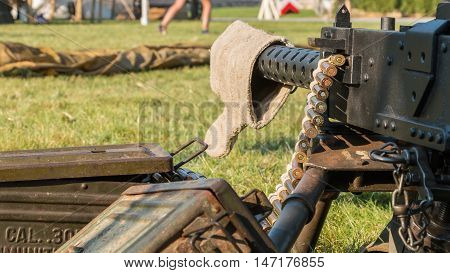 Us Machine Gun Close-up