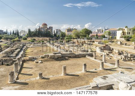 Remains At Kerameikos Archaeological Site, Athens, Greece
