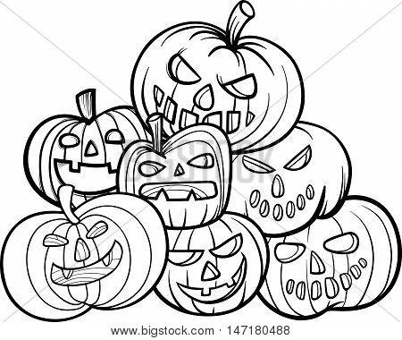 Halloween Pumpkins Coloring Book