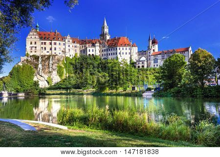 Impressive castle and beautiful park in Sigmaringen, Germany
