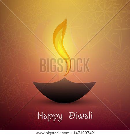 Happy diwali . Beautiful greeting card for festival Diwali.