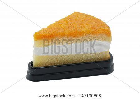 Foy Thong Chiffon cake isolated on white background