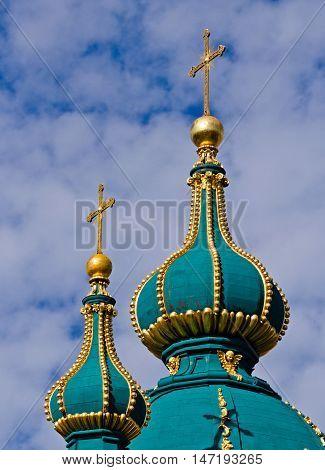 Andrew's Church -  оne of the symbols of the city. Kiev Ukraine. Kyiv Ukraine