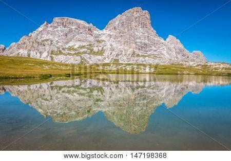 Nice lake in Tre Cime, Dolomites Italian Alps