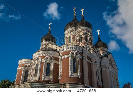 Alexander Nevsky Orthodox Cathedral in Tallinn Estonia
