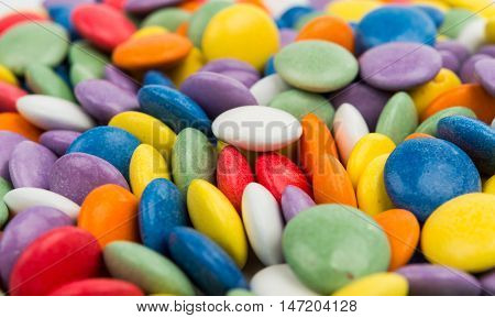 sweet candies spreading pastry multicolor decoration background