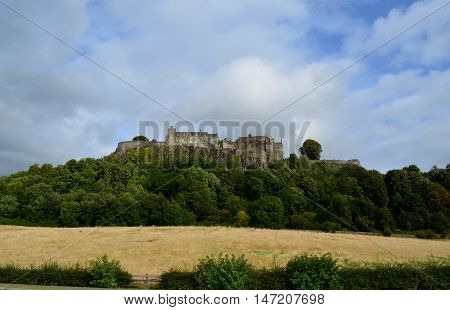 Gorgeous view of Stirling Castle in Scotland.