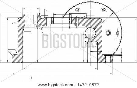 Engineering drawings, designers, fine lines - vector