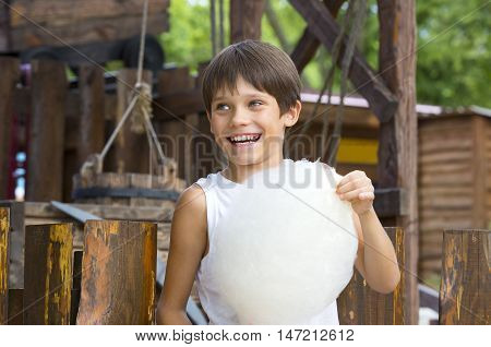 kids eating cotton candy treat  unhealthy youngster