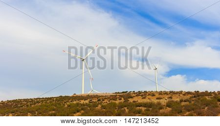 Renewable energy wind vane. natural resources for a green world.