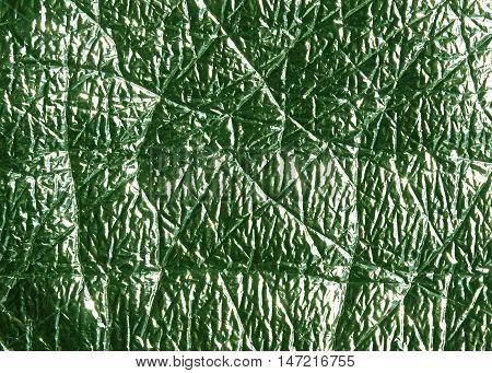 Green Metal Foil Surface.