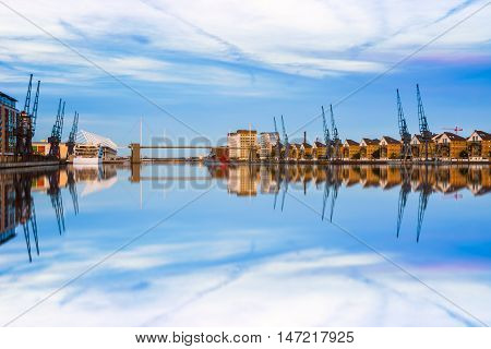 Royal Victoria Dock In East London