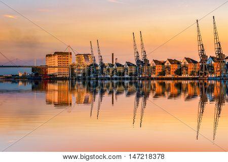 Royal Victoria Dock At Sunset