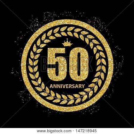 Template Logo 50 Years Anniversary Vector Illustration EPS10