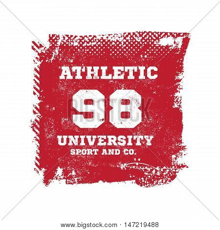 Athletic sport label typography, t-shirt graphics. Sport vector Graphics and typography t-shirt design for apparel.