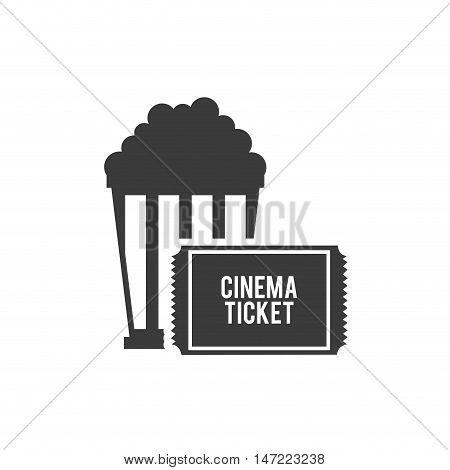 pop corn with cinematographic icon vector illustration design