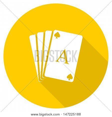 card flat design yellow round web icon