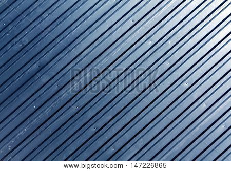Blue Metal Plate Surface.