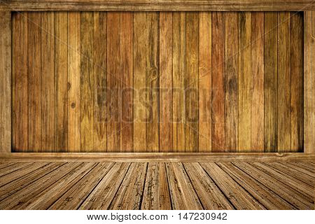 2d illustration of an empty wooden room