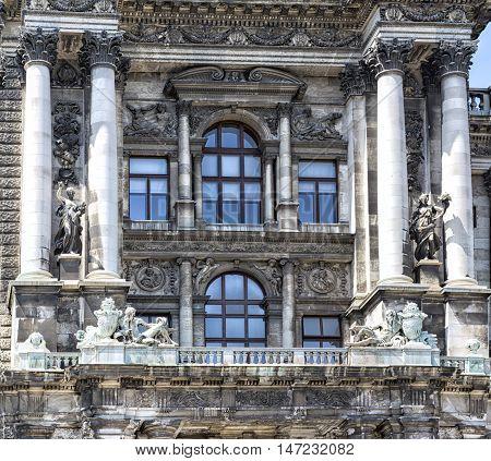 Detail Of  Museum Of Ethnology In Burggarten. Vienna, Austria