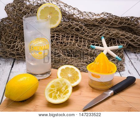 Freshly squeezed lemonade at the beach a summer favorite