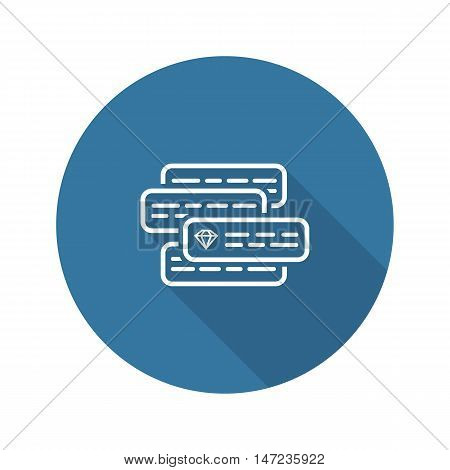 Internet Marketing Icon. Flat Design Isolated Illustration. App Symbol or UI element.Couple text ads compete with each other. Vector.