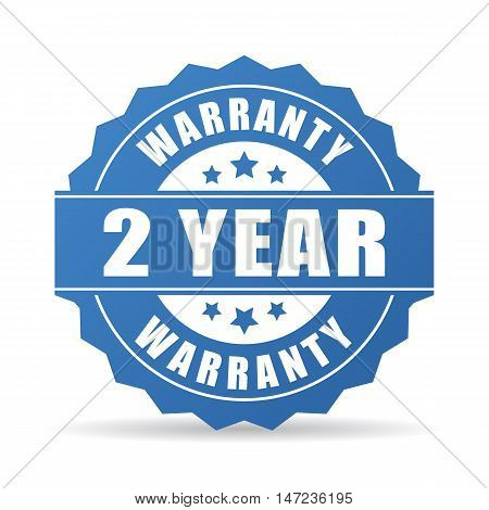 2 years warranty icon vector illustration isolated on white background