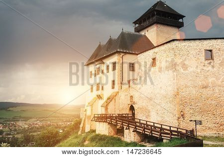 Old Castle in the Trenchin Slovak Republic