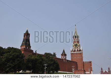 Moscow kremlin red square in Russia