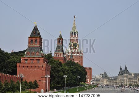Historical Moscow kremlin and red square