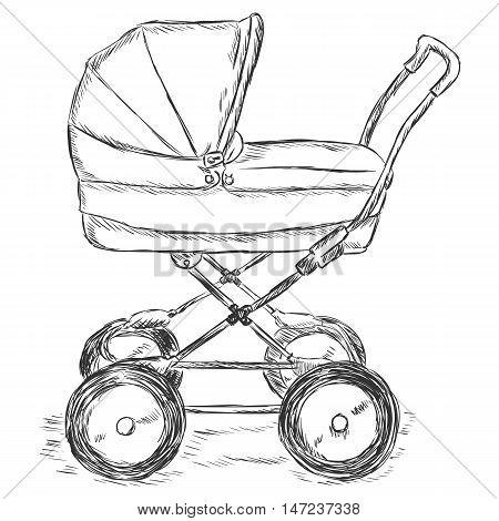Vector Sketch Illustration - Buggy