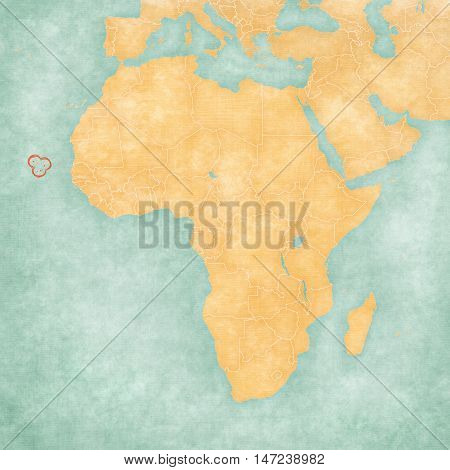 Map Of Africa - Cabo Verde